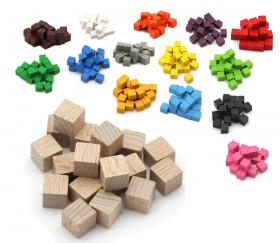 Cubes en bois 1 cm. 10 x 10 x 10 mm naturel - bois certfiié FSC
