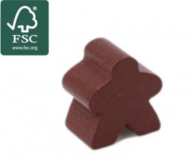 Pion meeple original personnage marron en bois certifié FSC type carcassone