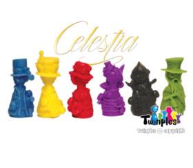 6 pions Twinples Officiels de Celestia