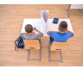 Paravent 43 x 40 cm - Mur blanc Cache table - écran masqueur pour joueur ou bureau