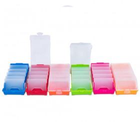 Boite à trier cartes rouge de 20 x 9 x 6.5 cm avec intercalaires amovibles