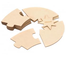 Puzzle bois rond géant neutre 70 cm - 17 pièces Montessori cercle annuel
