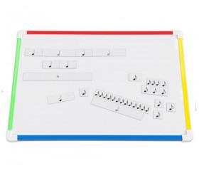 34 cartes notes magnétiques pour apprentissage musique