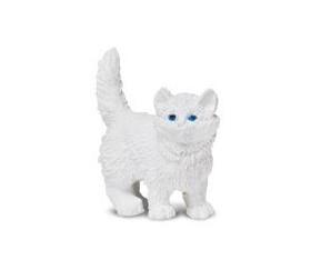 Figurine mini chat blanc pour jouer