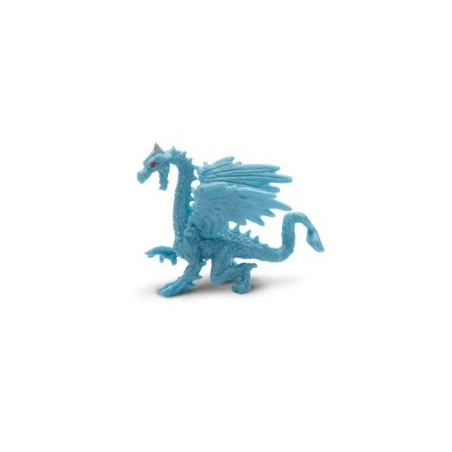 Figurine mini dragon bleu - Dragon des glaces