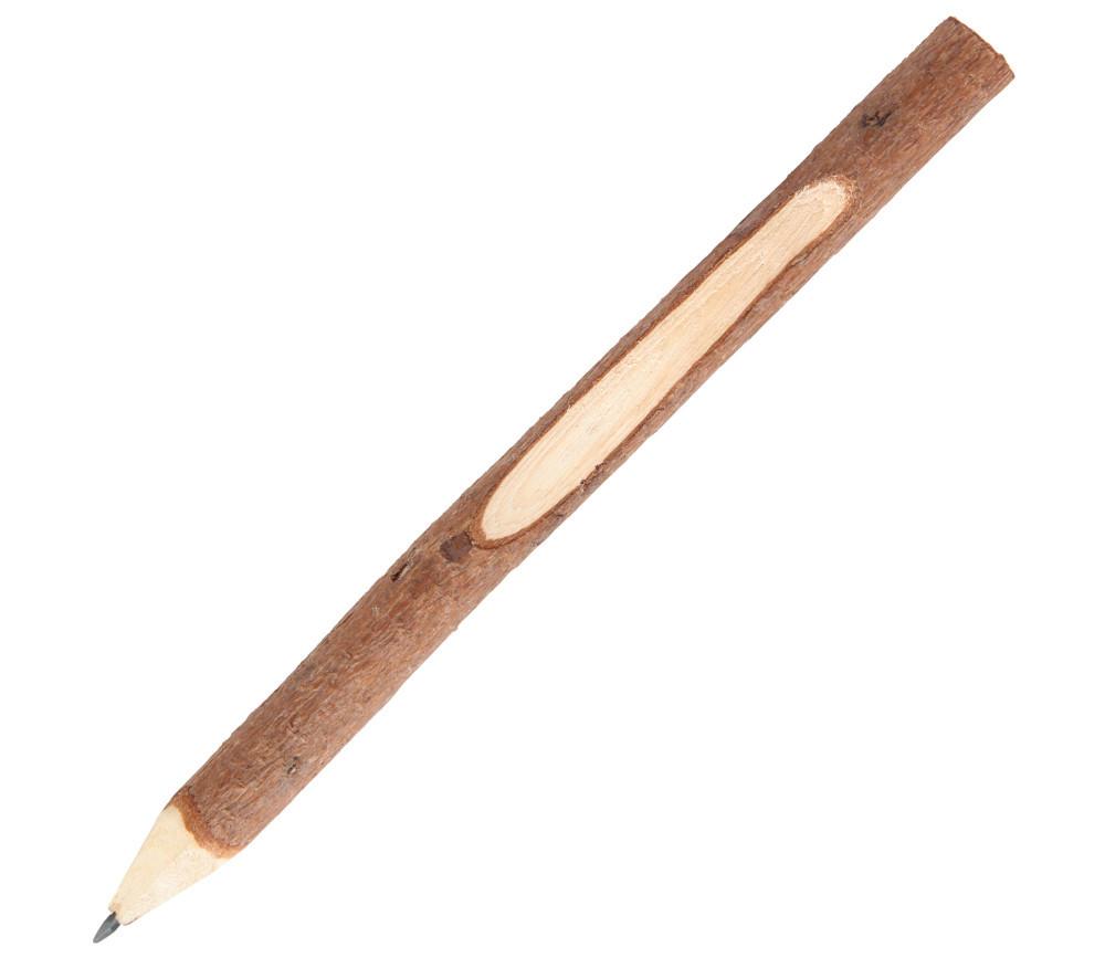 Gros crayon branche de bois avec encoche - 17 cm