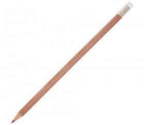 Crayon en bois avec embout gomme - 18 cm