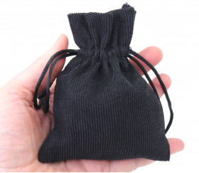 Petit Sac noir pour rangement accessoires de jeux de société