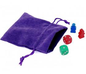 Petit pochon sac pour accessoires de jeux.