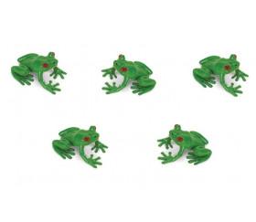 Figurine mini grenouille verte