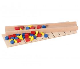 Matériel jeu test mémoire en bois