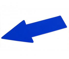 Flèche marquage au sol 34.7 x 15 cm bleu