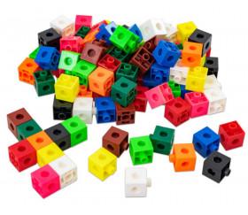 100 pions cubes multicolores 2 cm clips emboîtables 20 x 20 mm clipsables