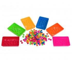 barquette plastique colorée de comptage