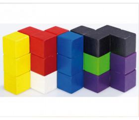 puzzle cube en bois