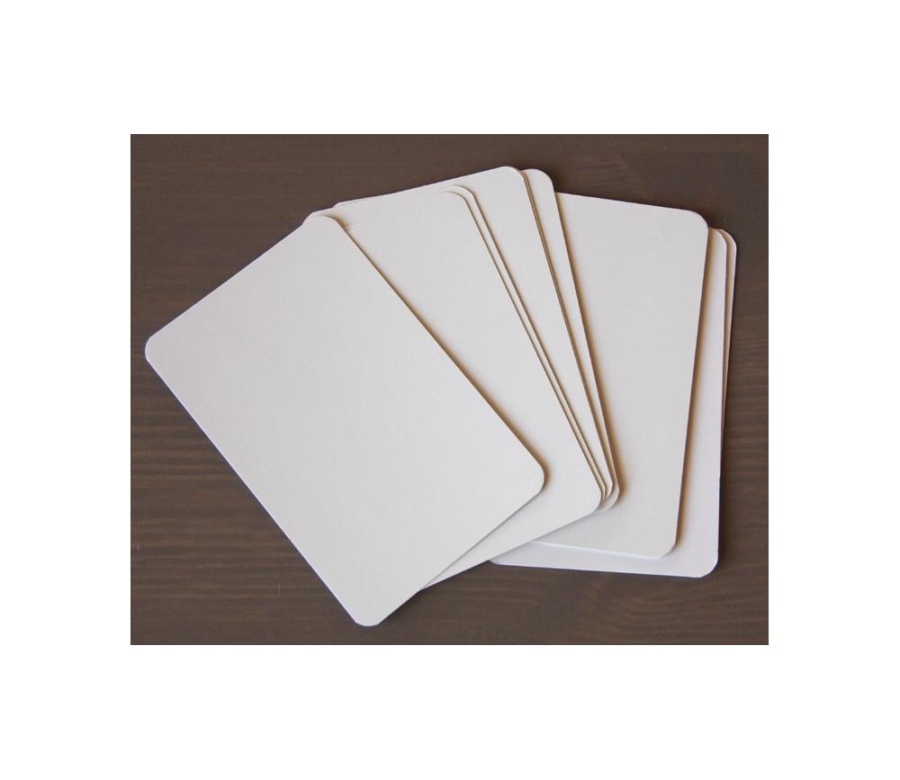 Lot de 10 cartes blanches à personnaliser