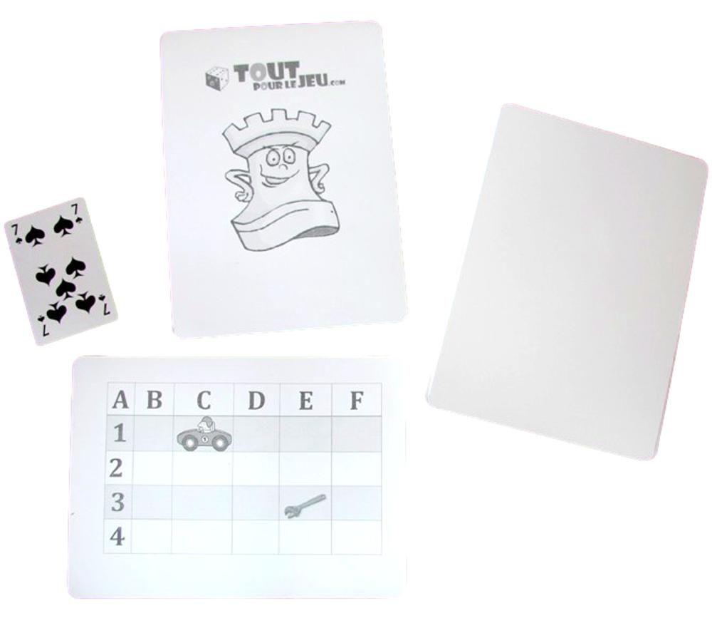 30 cartes ultra géantes blanches 210x150 mm A5