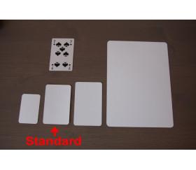 Lot de 10 cartes blanches à personnaliser 59 x 91 mm
