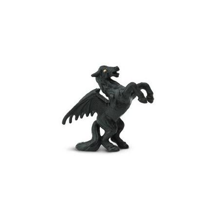 Figurine mini pégase noir