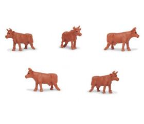 Figurine mini vache marron Vaches de jersey
