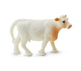 Figurine mini vache charolaise