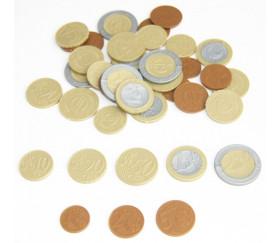40 Pièces euros en plastique monnaie très réaliste