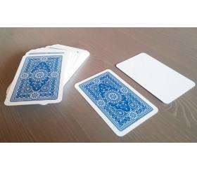 54 cartes à jouer recto blanc et verso bleu