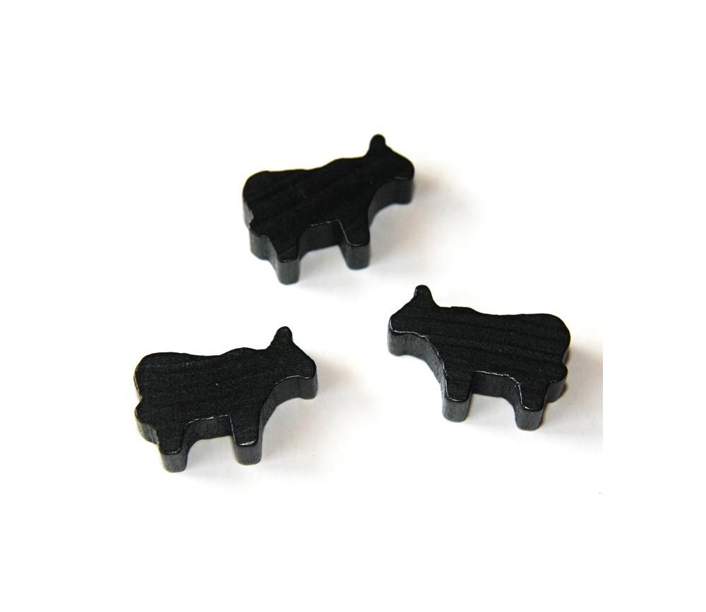 Pion de jeu vache en bois animal