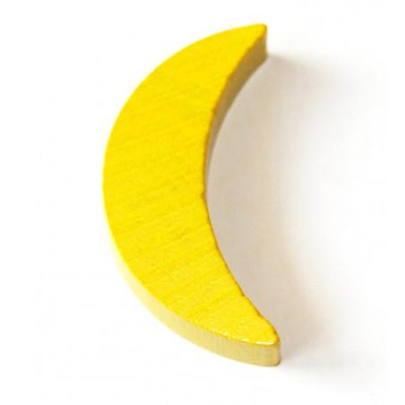 Lune jaune 35 x 18 x 8 mm en bois