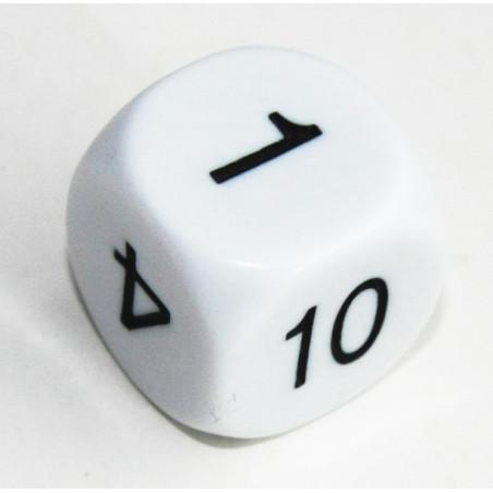 Dé à jouer 1 à 10 avec chiffres 1 2 3 4 5 10