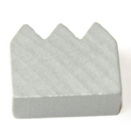 Couronne / fabrique pion de jeu  en bois 23 x 18 x 10 mm