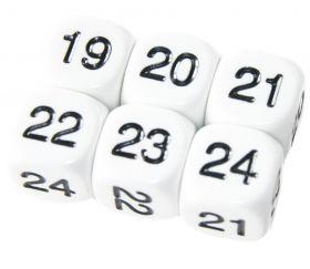 Dé à jouer chiffres 19 à 24