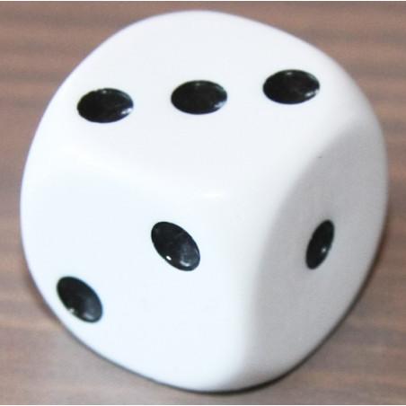 Dé à jouer avec points 123 de 16mm de côté