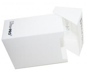 Deck box - Boite cartes de jeux - plastique blanc 9.5 x 7 x 4.5 cm