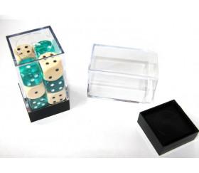 Cube rangement Mini boite transparente base noire