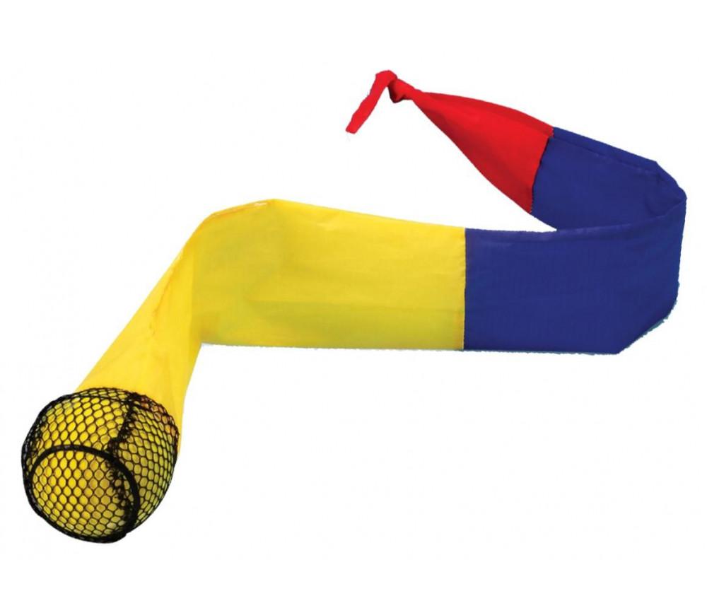 Balle de lancer avec queue mutlicolore