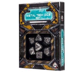 7 Dés métal multifaces TECH