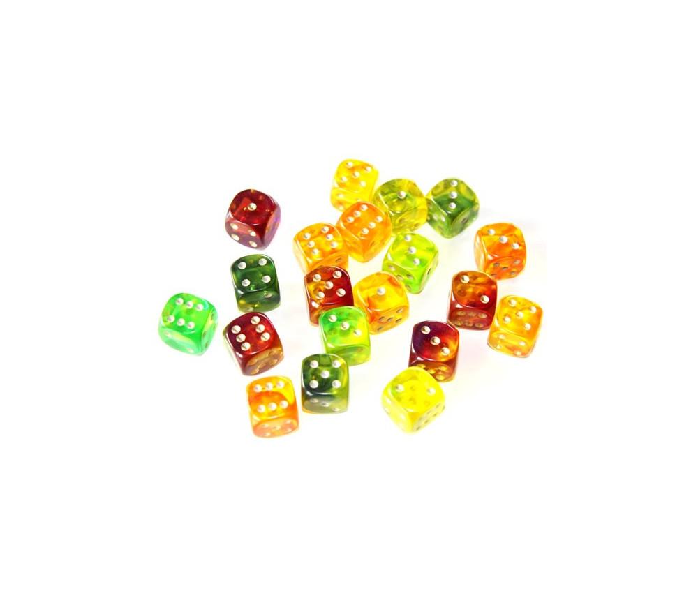 Dé à jouer 15 mm gem bicolore blitz