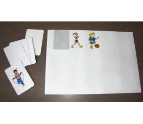 12 étiquettes autocollantes rectangles pour cartes à jouer