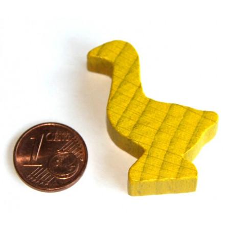 Pion oie jaune en bois de 35 x 26 x 8 mm pour jeu