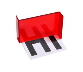 Miroir magique de géométrie translucide rouge