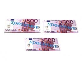 Set 100 billets de 500 euros factices pour jeux