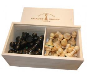 32 Pièces échecs bois plombées lestées coffret bois taille 5 luxe FABRICATION FRANCAISE BUIS