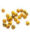 20 Billes opaques jaunes canaris