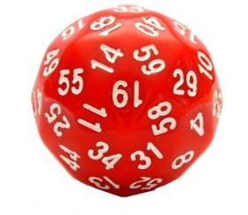 Dé 60 faces rouge D60 de jeu