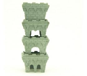 40 Pions tours de Château empilables pour jeux 28x28x20 mm