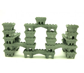 10 Pions pont de Château empilables pour jeux 85x28x20 mm