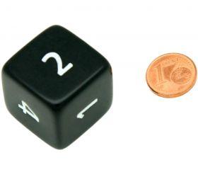Dé chiffres 24 mm opaques coins droits