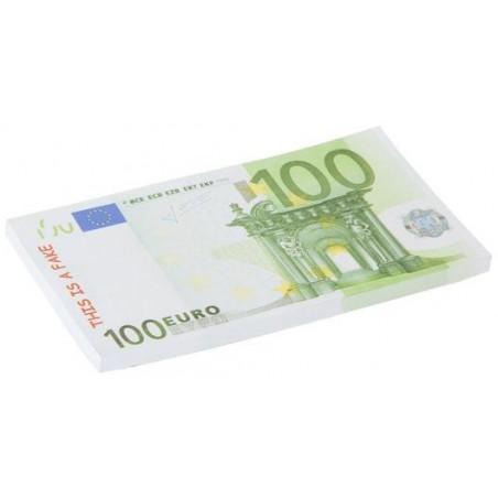 Bloc note avec billets de 100 euros factices pour jeux