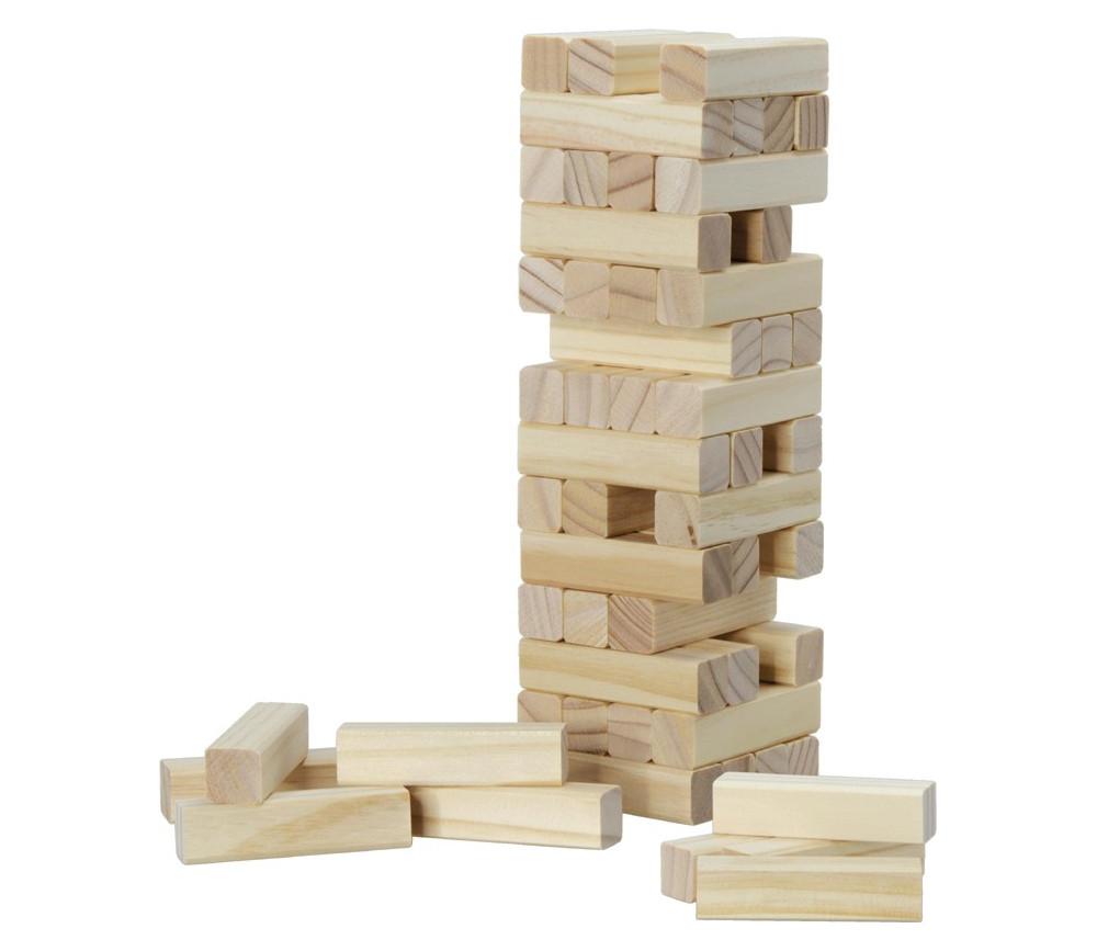 Jeu tour équilibre en bois 56 blocs